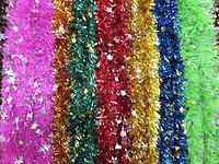 Мишура Новогодняя - лапша , 10 расцветок d = 10 см,3 м ,50 шт/в упаковке. (1 уп.) 5 расцветок
