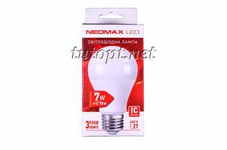 Светодиодная LED лампочка NeoMax 7W NX7L E27 4000K IC Driver