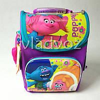 Школьный каркасный рюкзак для девочек фиолетовый Trolls Тролли