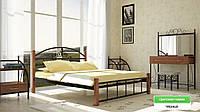 """Кровать металлическая на деревянных ногах """"Касандра"""" Металл-Дизайн"""