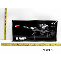 Автомат AWP, стреляет гелиевыми пульками, упакован в чемодан, дополнительные аксессуары