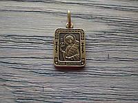 Роман Икона Нательная Именная Посеребренная Мужская Православная размер 20*16 мм