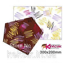 Трансферы Разноцветные штрихи