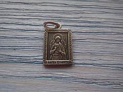 Святой Ангел Хранитель Икона Нательная   Мужская Посеребренная православная размер 20 *16  мм