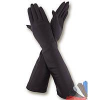 Женские перчатки длинные из натуральной кожи модель 052.