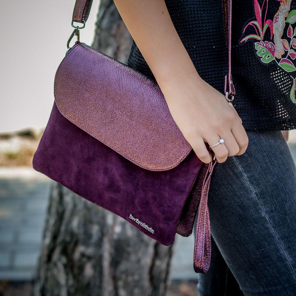7ad8048df279 Небольшая сумка-клатч, кожа натуральная,замша. Цвет под заказ. - Интернет