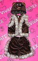 Детский карнавальный костюм Медведь велюр