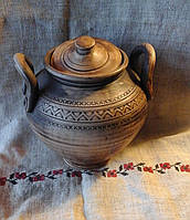 Горщик глиняний з ручками  4л