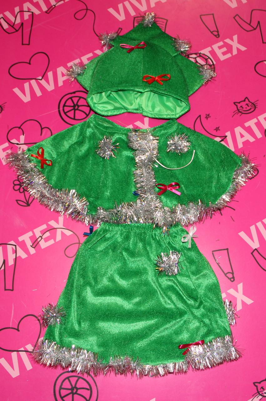 Детский карнавальный костюм Елка велюр