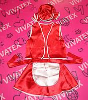 Детский карнавальный костюм Красная Шапочка атлас
