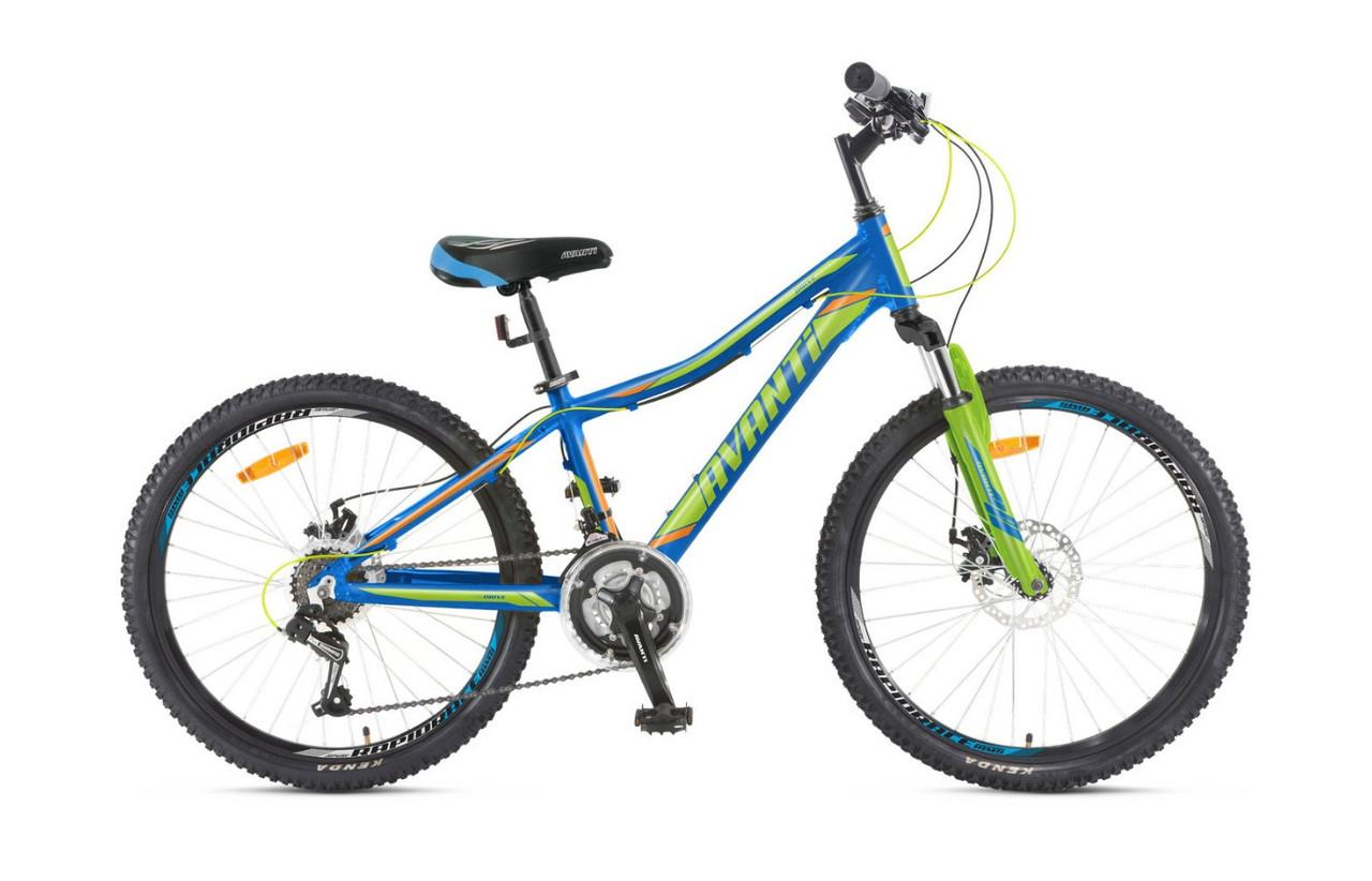 """Подростковый велосипед AVANTI DRIVE 24"""" 12""""  Голубой/Салатовый"""
