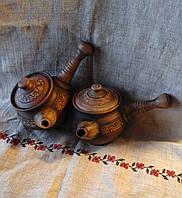 Глиняний заварник 0,5л червона та біла глина, фото 1