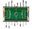 Настольный футбол складной Valencia - 140 x 75 x 89 см, фото 2
