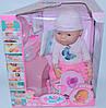 Интерактивная кукла-пупс Baby Born с аксессуарами,можно купать,закрывает глазки, плачет,9 функций
