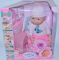 Интерактивная кукла-пупс Baby Born с аксессуарами,можно купать,закрывает глазки, плачет,9 функций, фото 1