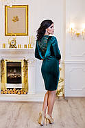 Женское стильное платье Манго / размер 42-50 / цвет изумруд, фото 2