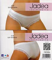 Трусики с кружевом белые Jadea 518
