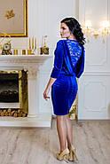 Женское стильное платье Манго / размер 42-50 / цвет электрик, фото 2