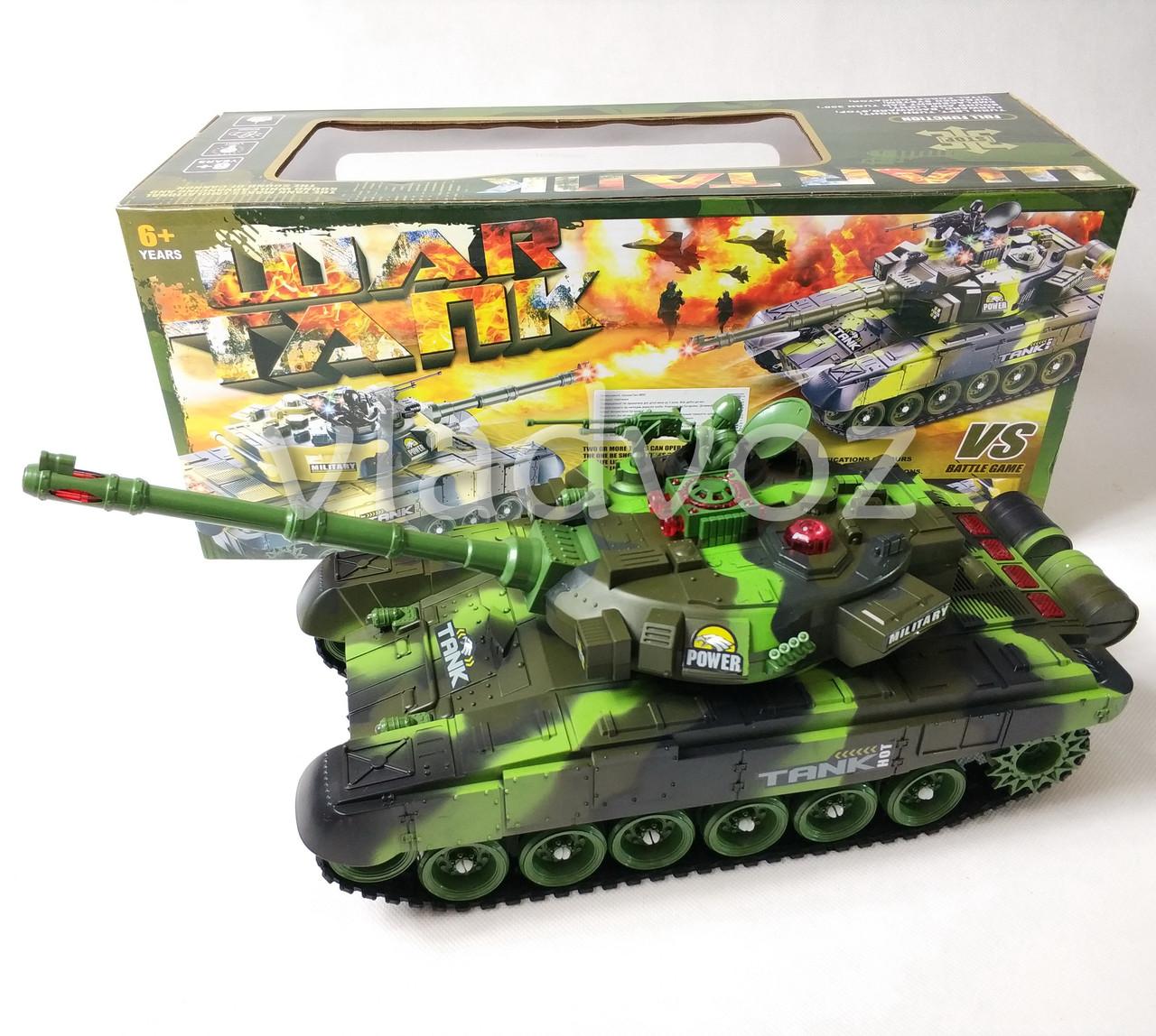танк на управлении фото с коробкой с переди зелёного цвета