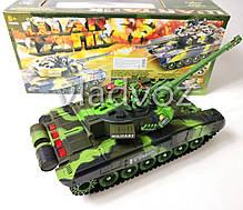 Боевой детский танк большой на радиоуправлении пульте зелёный War Tank, фото 2
