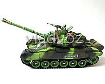Боевой детский танк большой на радиоуправлении пульте зелёный War Tank, фото 3