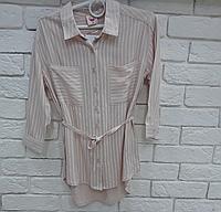Рубашка для девочки 98-122 см