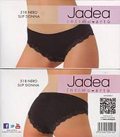 Трусики с кружевом черные Jadea 518