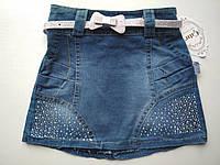 Джинсовая юбка для девочки 2-6 лет