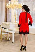 Женское нарядное платье Рубина / размер 42-50 / цвет красный, фото 2