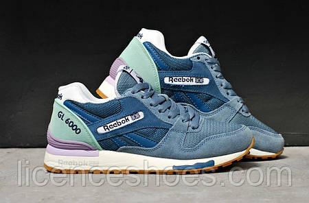 Женские синие кроссовки Reebok Classic GL6000