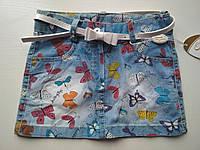 Детская джинсовая юбка Бабочка 1 год, фото 1