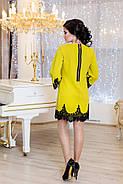Женское нарядное платье Рубина / размер 42-50 / цвет горчица, фото 2