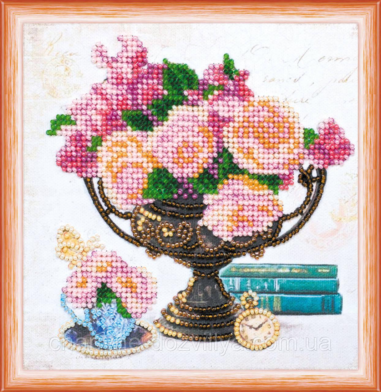 """Набор для вышивания бисером на холсте """"Садовые цветы"""""""