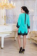 Женское нарядное платье Рубина / размер 42-50 / цвет бирюза, фото 2