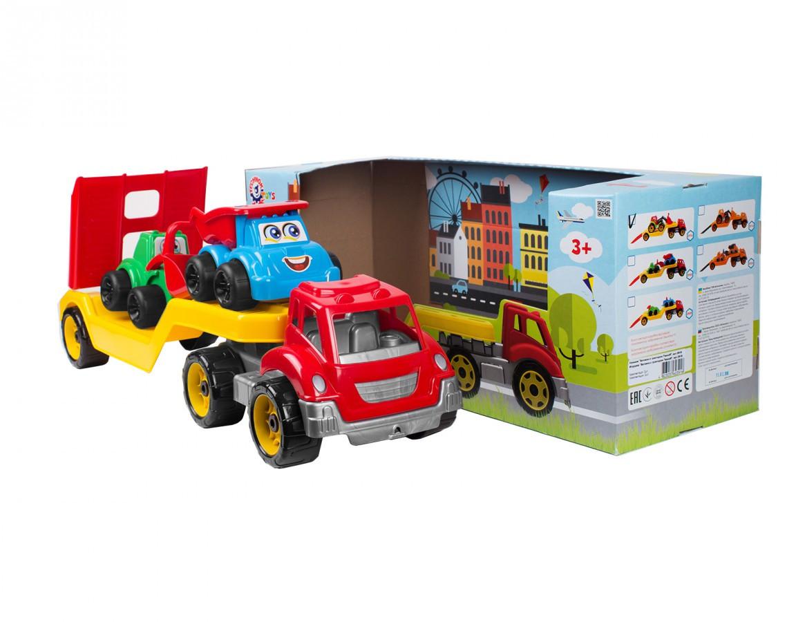 Игрушка Автовоз с набором Стройплощадка ТехноК 3930