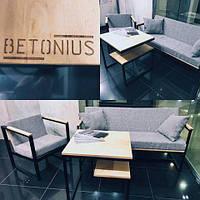 Мебель в стиле лофт, стеллажи, столы, стулья из металла