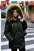 Женская зимняя куртка/парка на овчине
