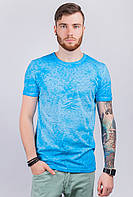 Футболка мужская модная, с принтом AG-0003361 Голубой