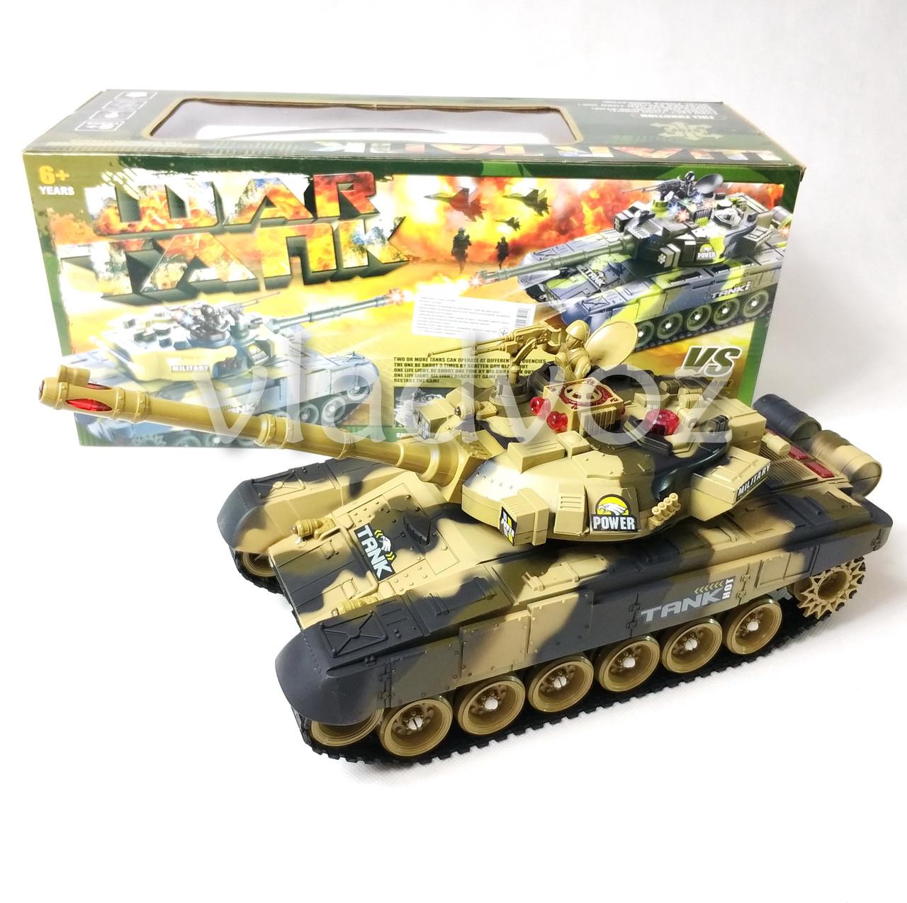 танк на управлении фото с коробкой с переди цвета хаки