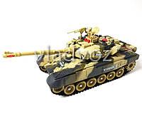 Боевой детский танк большой на радиоуправлении пульте хаки War Tank 1:10