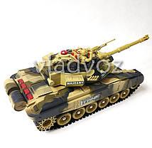Боевой детский танк большой на радиоуправлении пульте хаки War Tank 1:10, фото 3