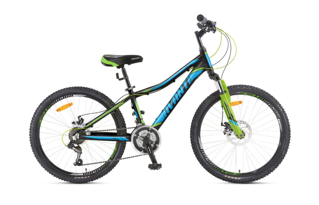 """Подростковые велосипеды  AVANTI DRIVE 24"""" 12""""   Черный/Голубой"""