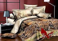 Постельное белье двуспальный евро TAG ренфорс Леопард