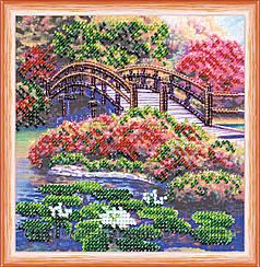 """Набор для вышивания бисером на холсте """"Цветы в пруду"""""""