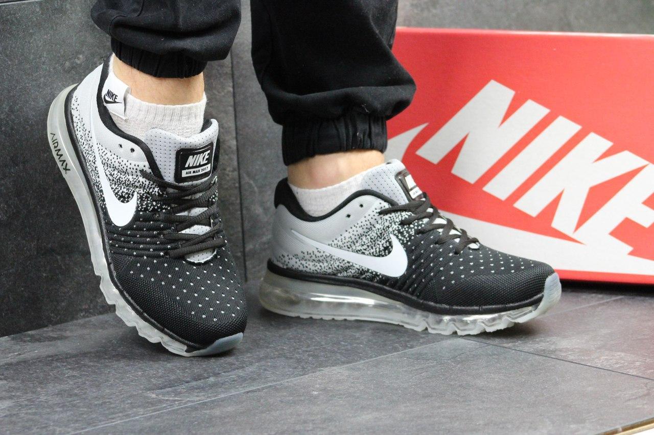 Мужские кроссовки NIKE AIR MAX 2017 черные с серым