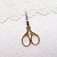 """Ножницы для рукоделия и вышивки ретро """"Классика"""" золото, 9*4.5 см, фото 1"""