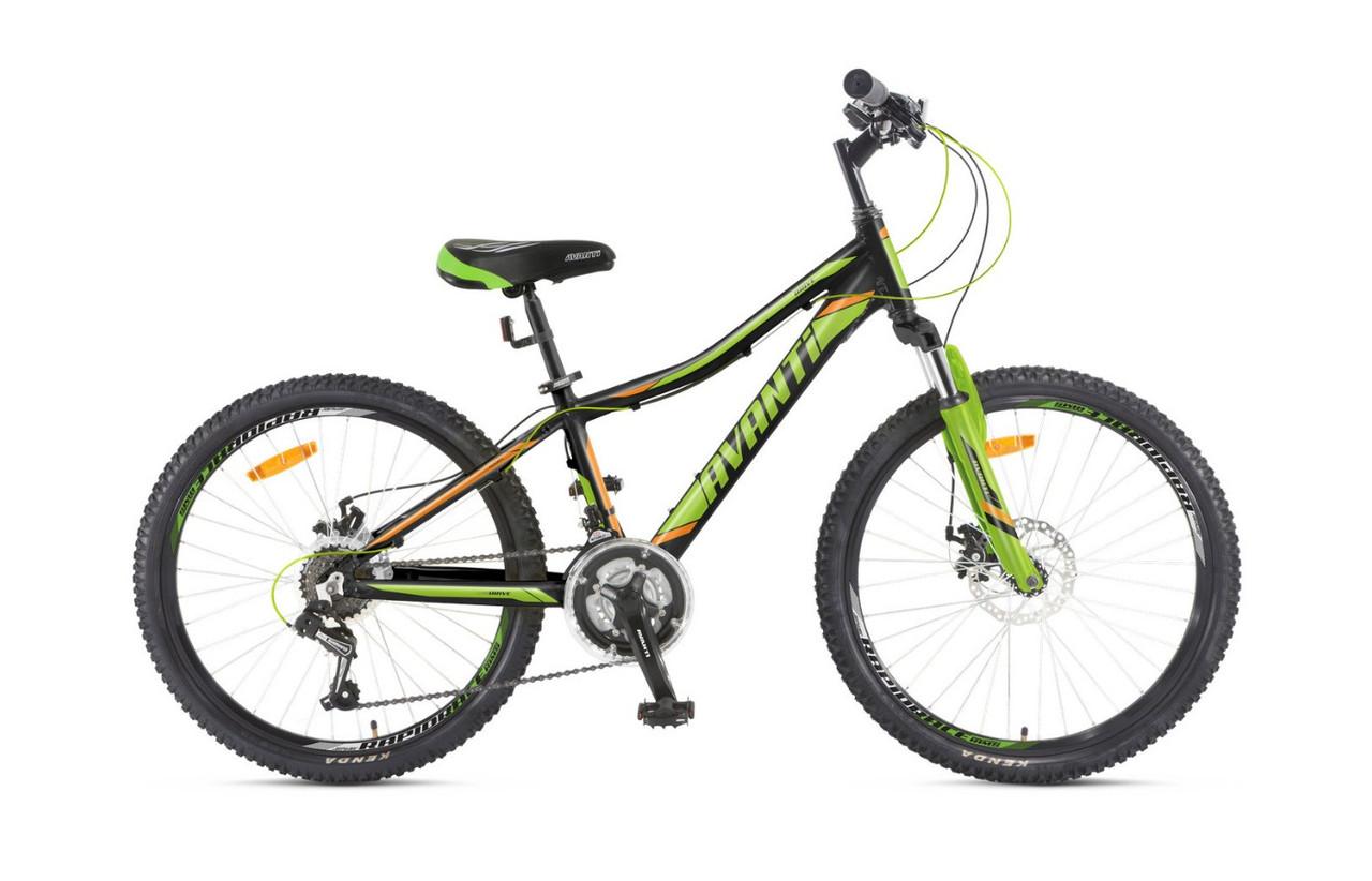 """Подростковый велосипед AVANTI DRIVE 24"""" 12""""  Черный/Салатовый"""