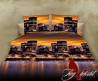 Постельное белье двуспальный евро TAG ренфорс Ночной город