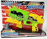 Детский пистолет с присосками Super Weapons салатовый