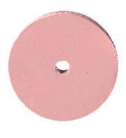 Резинка полировальная каучуковая розовая (тонкая)